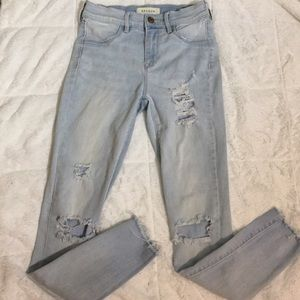 PacSun Distressed Ankle Jeggings
